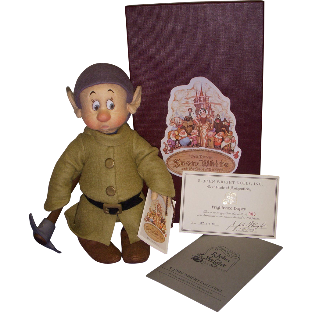 "MIB R John Wright ""Frightened Dopey"" from the Disney Snow White Series!"