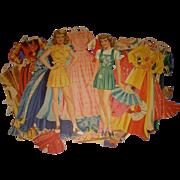 """Vintage 1942 Movie Star """"Bette Davis"""" Paper Dolls"""