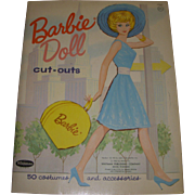 "1962 Vintage ""Barbie Doll Cut-Outs"" Paper Doll Set"