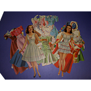 "Vintage 1941 Movie Star ""Deanna Durbin"" Paper Dolls"