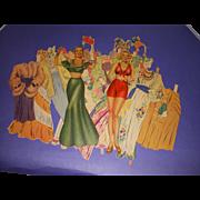 "Vintage 1942 Movie Star ""Carmen Miranda"" Paper Dolls"