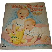 "Vintage ""Baby Brother & Sister""Paper Doll Set"