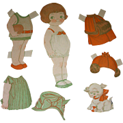 1927 Vintage Dolly Dingle Paper Doll Set by Drayton