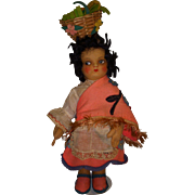 "Vintage 1930s Cloth ""Mariposa"" Doll."
