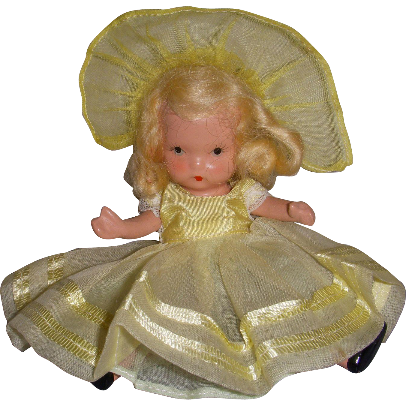 "Nancy Ann Storybook Doll Bisque ""Daffy Down Dilly"""