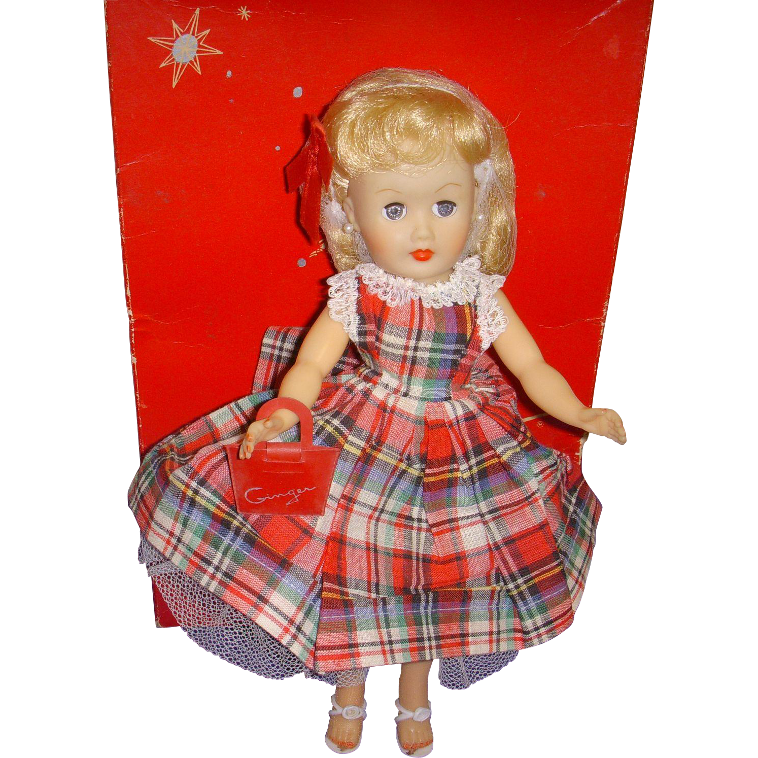 Vintage 1950s MIB Miss Ginger Doll All Original!