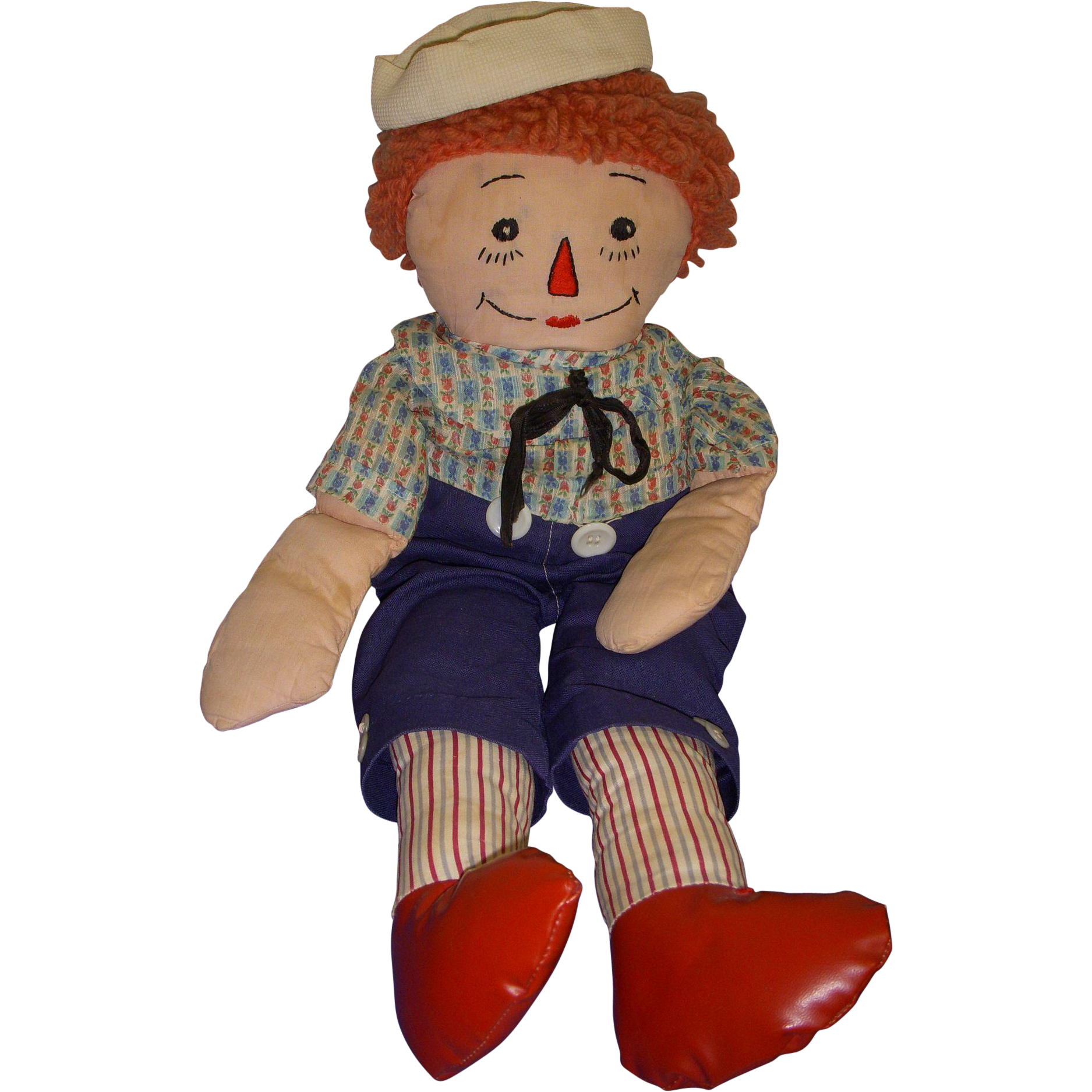 Vintage Cloth Raggedy Andy Doll