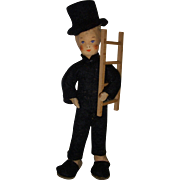 "Vintage Erna Meyer ""Chimney Sweep"" German Dollhouse Doll!"