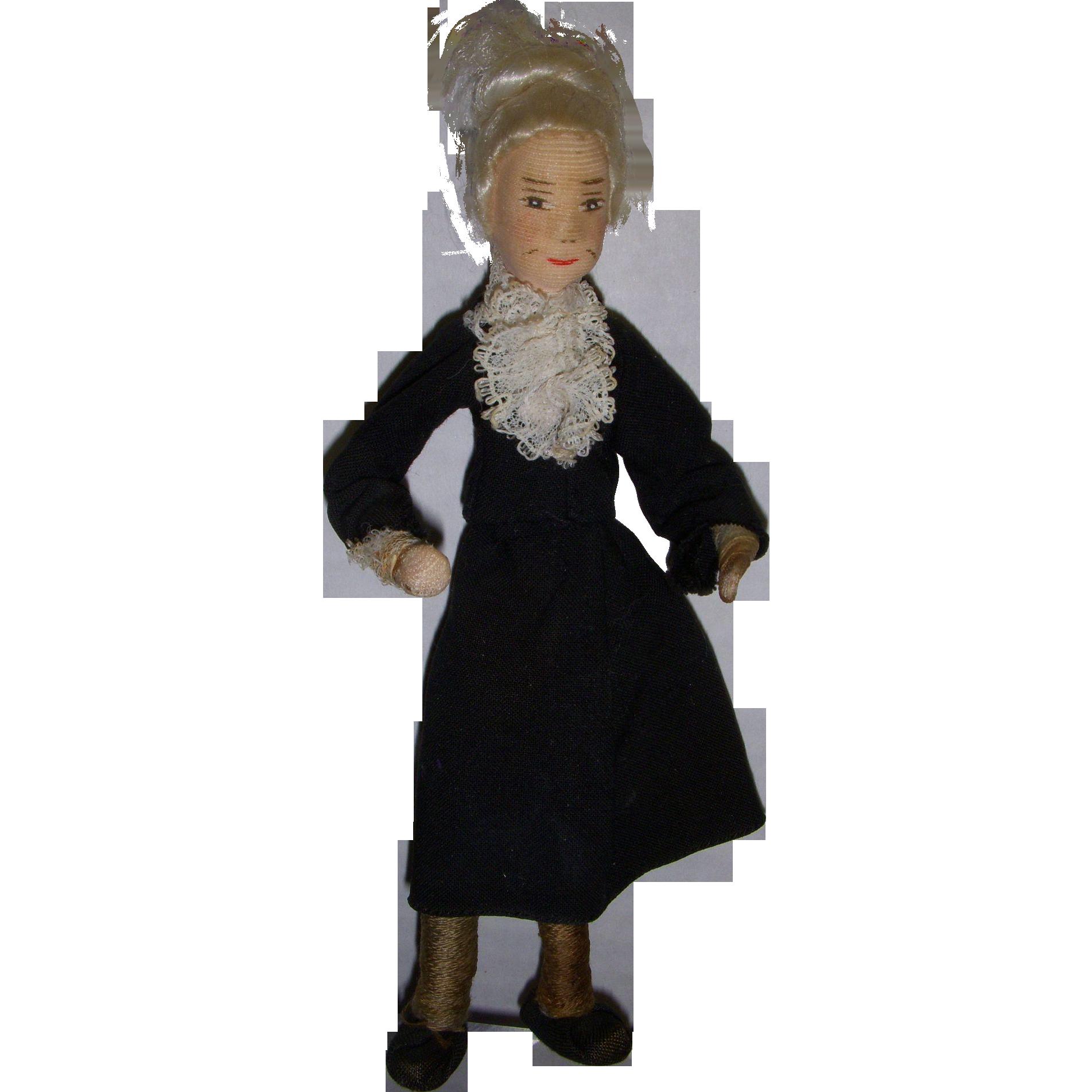 "Vintage Erna Meyer ""Grandmother"" German Dollhouse Doll"
