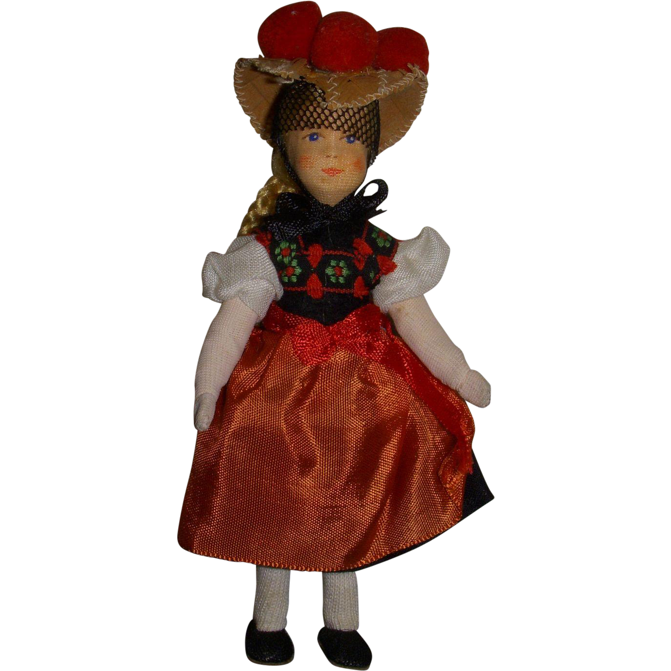 Vintage Erna Meyer German Dollhouse Doll