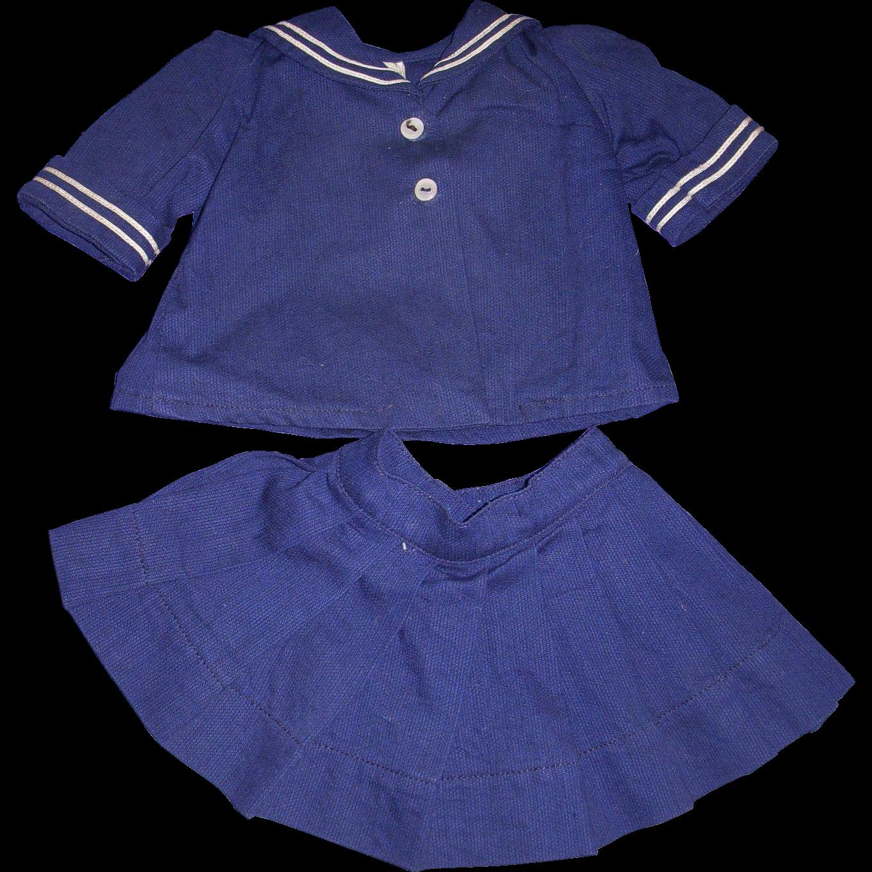 Vintage Tagged Terri Lee Sailor Dress Set