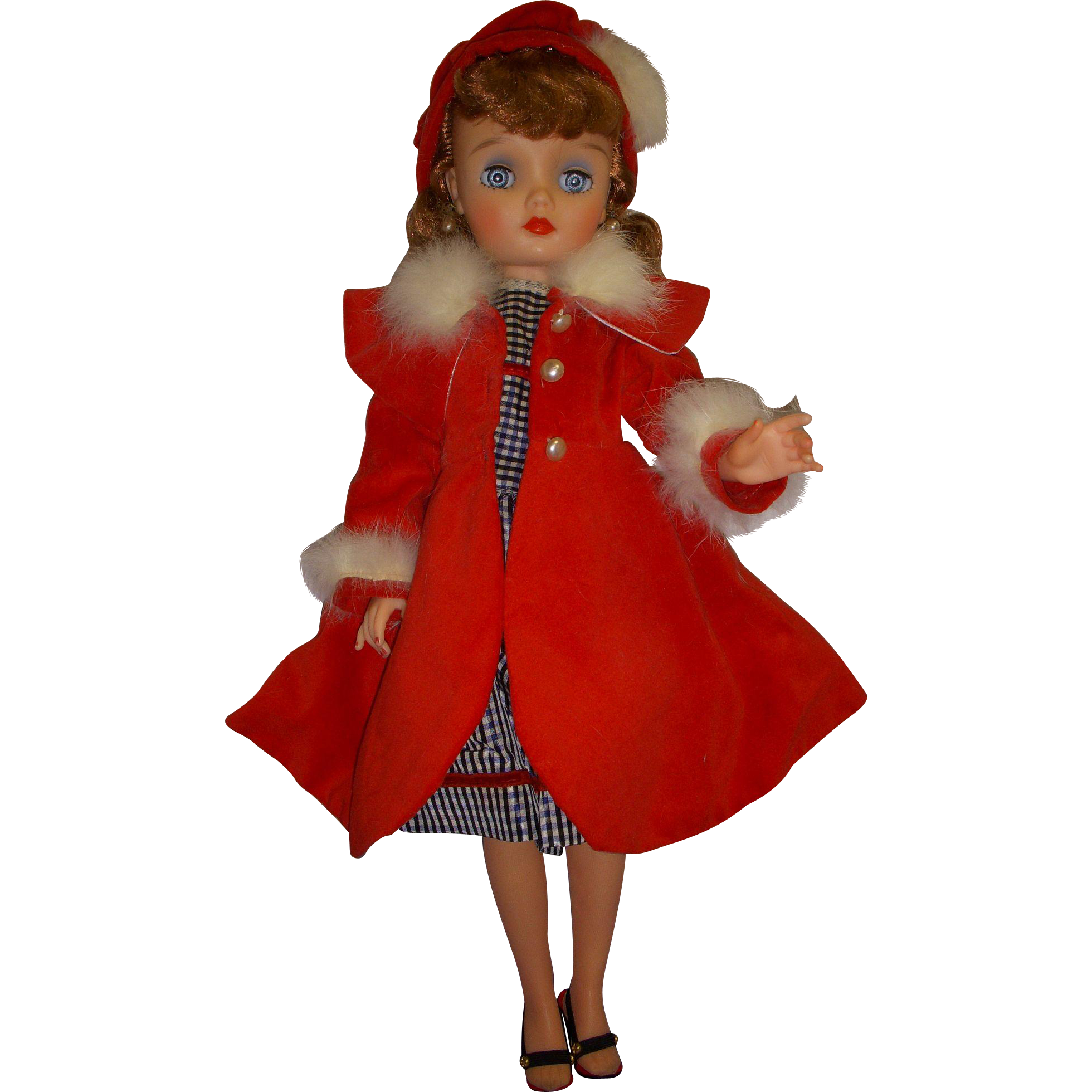 "Vintage 1950s 19"" Eegee Fashion Doll All Original"