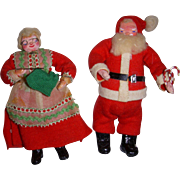 Vintage Dollhouse Santa & Mrs. Claus Dolls
