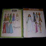 2 Vintage Doll Patterns for Barbie & Other Fashion Dolls