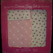 Vintage Vogue 1950s Ginny Bedding Set in Original Box