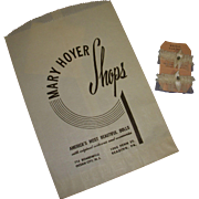 Vintage Rare 1950's Original Mary Hoyer Bridal Garters MIP with Original Mary Hoyer Shop Bag