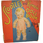 "1930s Uncut "" Scootles and Kewpie Doll Book"" # 300 by Rose O'Neill"