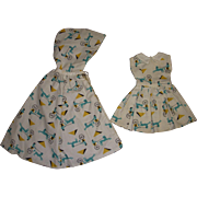 Vintage Tagged Mary Hoyer Dress and Matching Cape