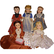 Vintage Alexander Set of Little Women All Original Dolls