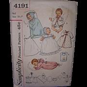 Simplicity Thumbelina Layette Doll Pattern #4191