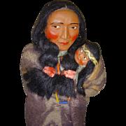 "Vintage 12 1/2"" Skookum Indian Doll"
