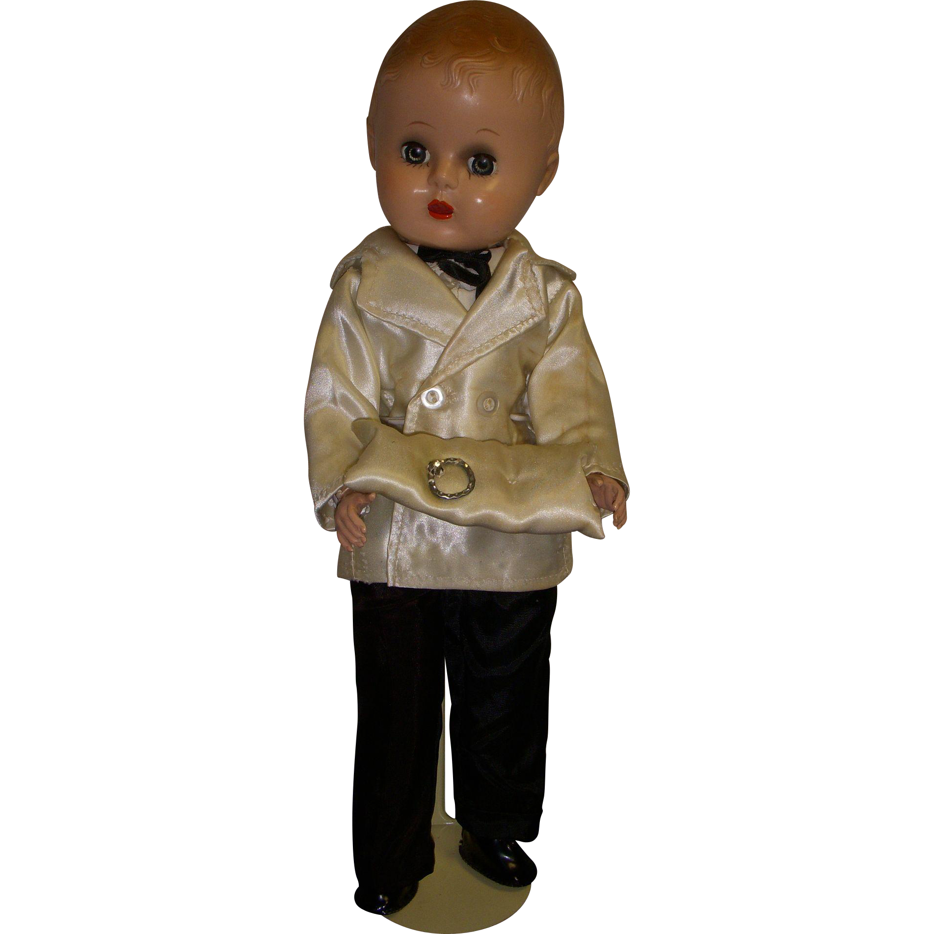 Vintage 1950s Hard Plastic Boy Doll