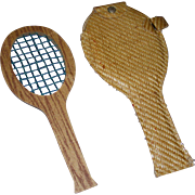 Vintage Mary Hoyer Tennis Racket with Case