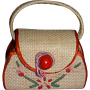 Vintage 1950's Mary Hoyer Doll Purse