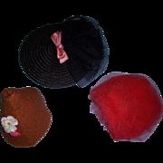 Vintage 1950's Lot of Cissette Style Doll Hats