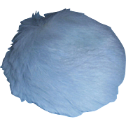 Vintage 1950s Vogue Ginny Blue Fur Hat