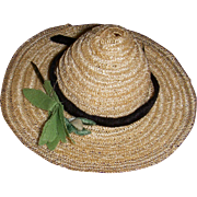 Vintage 1950s Vogue Ginny Doll Straw Hat
