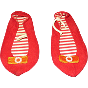 Vintage Mattel Red Chatty Cathy Shoes