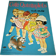 "1964 Vintage ""Cute Quintuplets Cut-Outs"" Paper Doll Set"