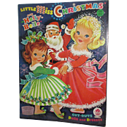 "1965 Vintage ""Little Miss Christmas and Holly-Belle"" Paper Doll Set"