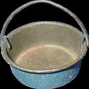Vintage Miniature Tin Pot with Handle