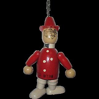 "Jaymar ""Ed Wynn - Fire Chief"" Vintage Wooden Jointed Figure"