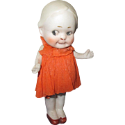 Vintage All-Bisque Nippon Googly Doll with Crepe Paper Outfit