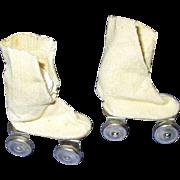 "Vintage 1950s HTF 10 1/2"" Fashion Doll Roller Skates"