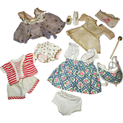 "Vintage Lot of 8"" Doll Clothes & Accessories"