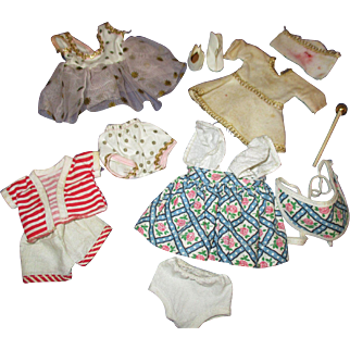 """Vintage Lot of 8"""" Doll Clothes & Accessories"""