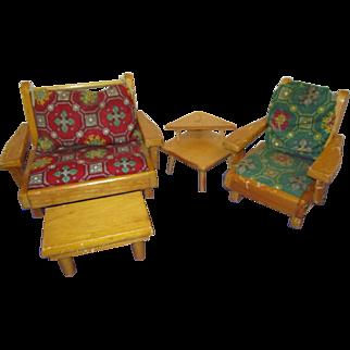 Vintage 1950s Pert Pat Doll Living Room Set