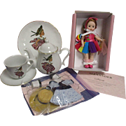 "Madame Alexander Convention Doll ""Lollipop"" with Tea Set, Clothes & Tote Bag"
