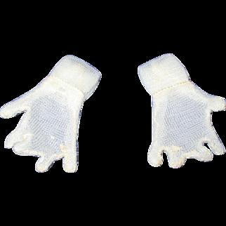 Vintage HTF 1950's Pair of Mary Hoyer Sheer White Gloves