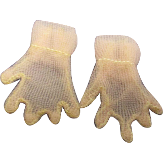 Vintage HTF 1950's Pair of Mary Hoyer Sheer Pink Gloves