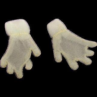 Vintage HTF 1950's Pair of Mary Hoyer Sheer Pastel Blue Gloves