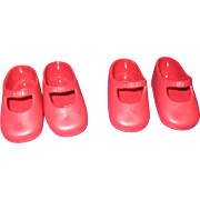 2 Pairs of Ideal 1972 Shirley Temple Doll Shoes
