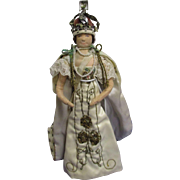 "Vintage Liberty of London ""Queen Elizabeth"" Doll All Original"