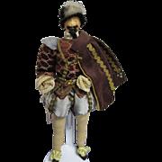 "Vintage Liberty of London ""Sir Walter Raleigh"" Doll All Original"