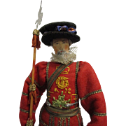 "Vintage Liberty of London ""Beefeater"" Doll All Original"