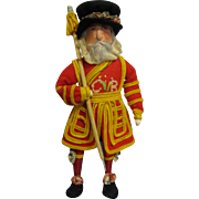 """Vintage English """"Beefeater"""" Doll All Original"""